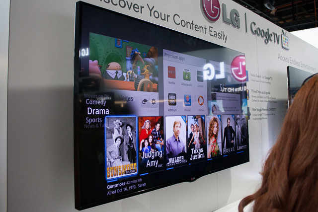 LG's Google-TV powered set—lots to do, no good way to accomplish it.