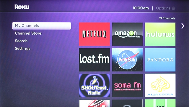 The Roku 3's new interface is smooth and fluid, not to mention easy to use.