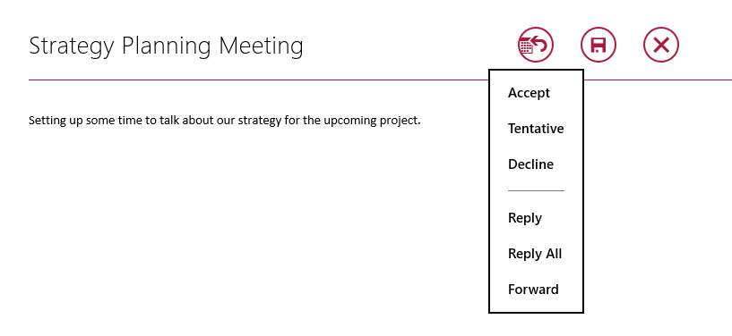 Send e-mails to meeting participants.