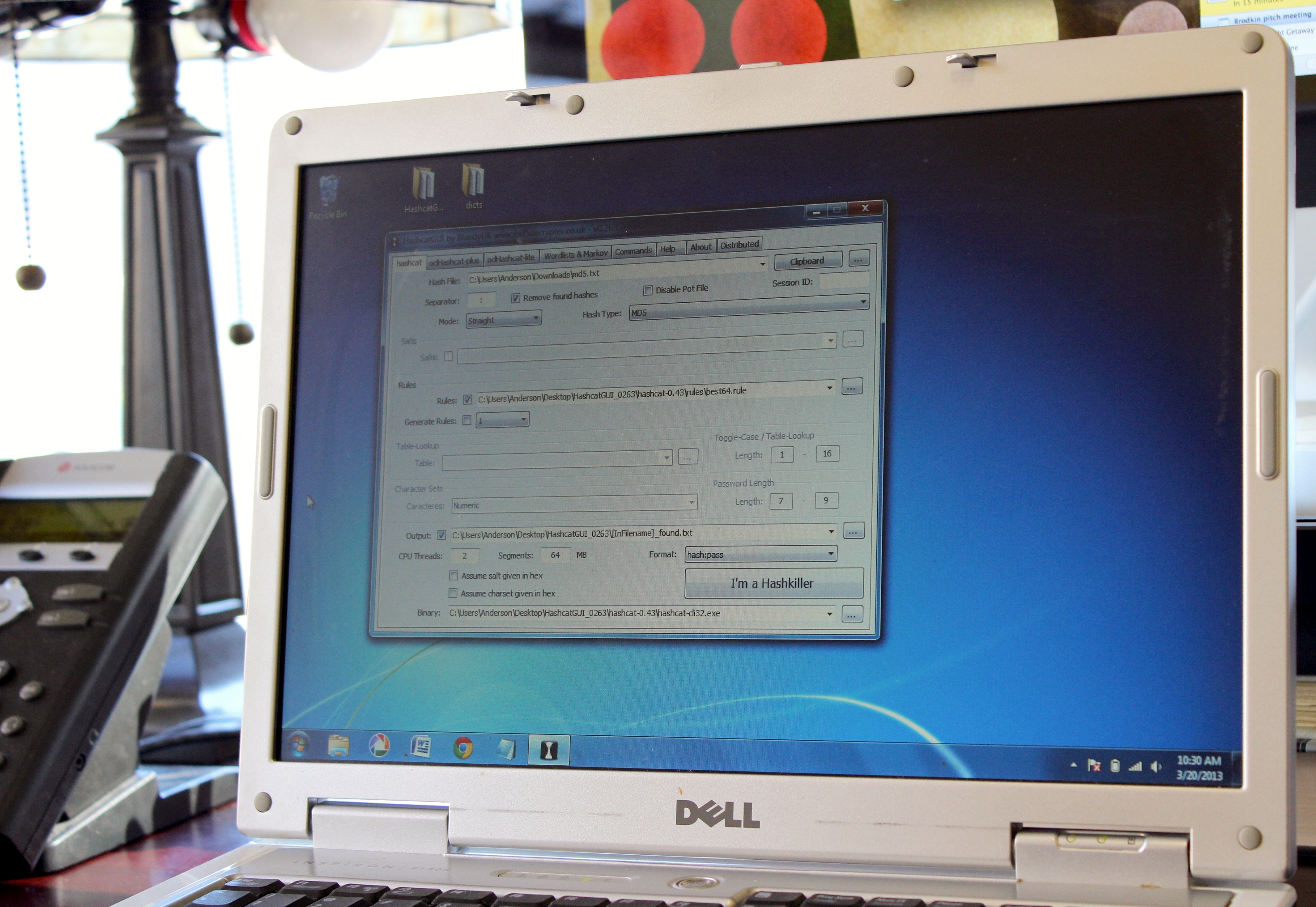 "Could an aging Dell laptop make me a ""hashkiller""?"