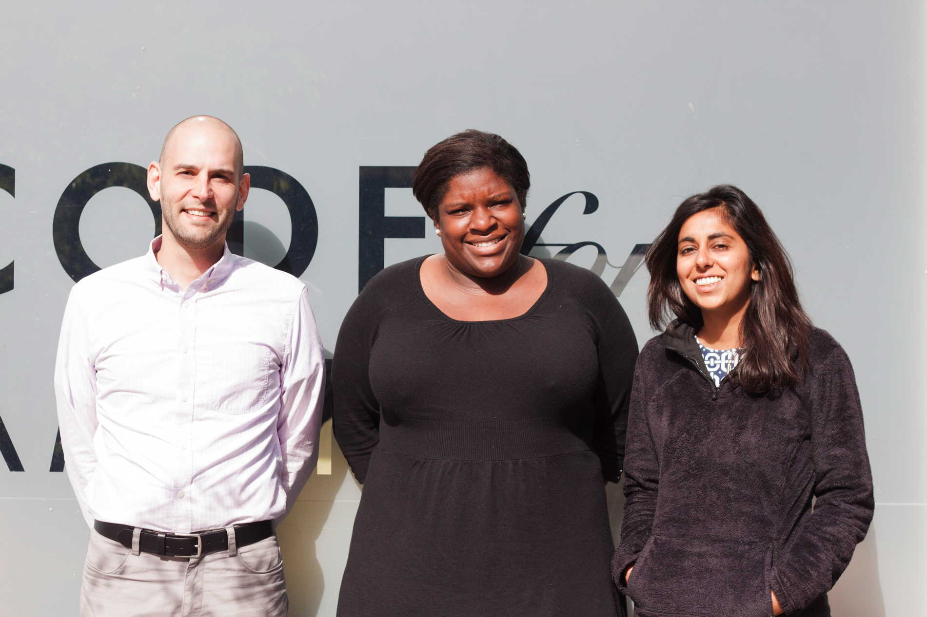 Cris Cristina (left), Sheila Dugan (center), and Richa Agarwal (right), are the three fellows assigned to Oakland this year.