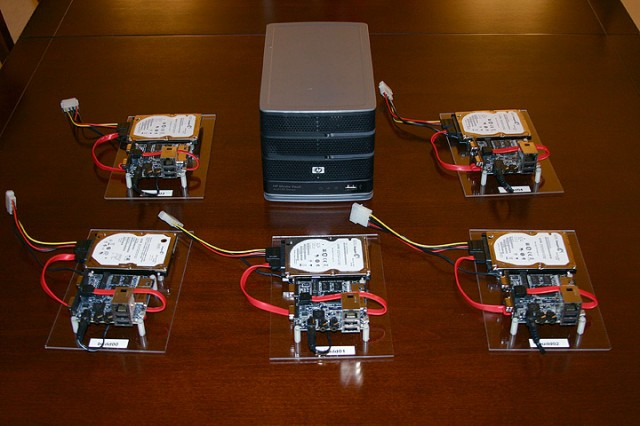 Five Freescale systems and the ARM-based HP server.