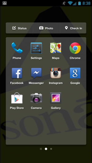 Facebook Home's App Launcher looks like stock Android's and features the latest Android apps you've downloaded.