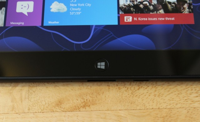 The Tablet 2 has a physical Windows button rather than a capacitive one.