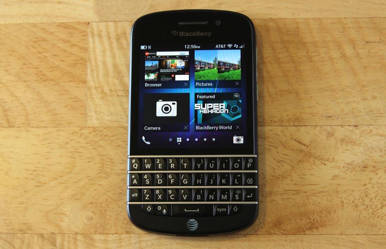 The BlackBerry Q10.