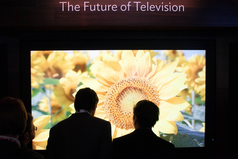 New high-resolution TVs make demo content look very sharp.
