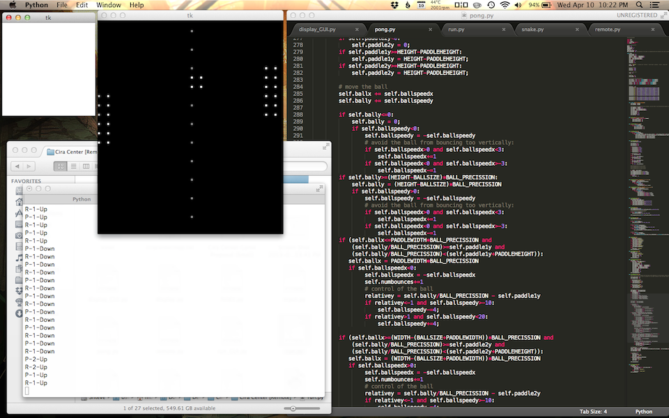 Lee's team had to put together not just the code for Pong, but an API for the Cira Centre's lights.