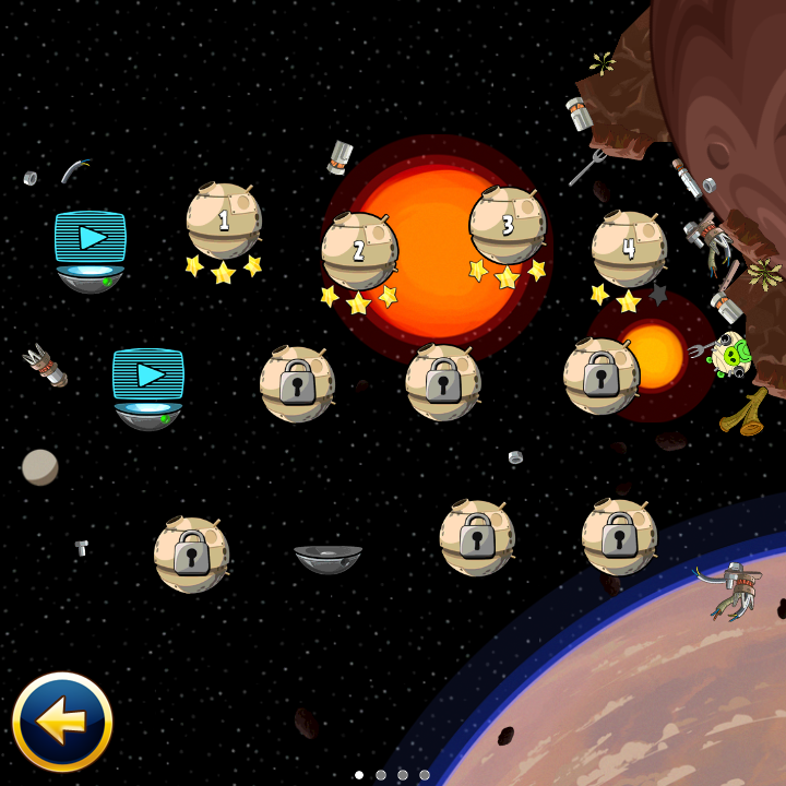 <em>Angry Birds Star Wars</em> on the Q10.
