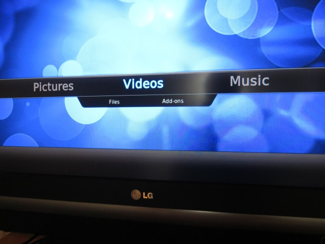 Raspbmc's easy-to-use interface.