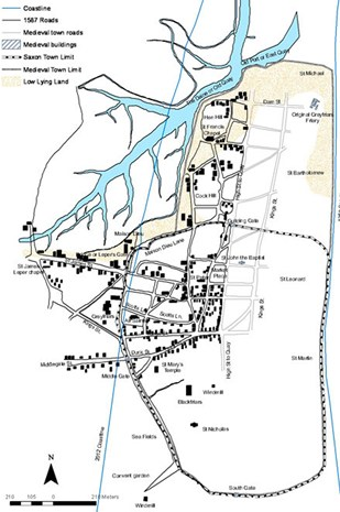 Dunwich town map.