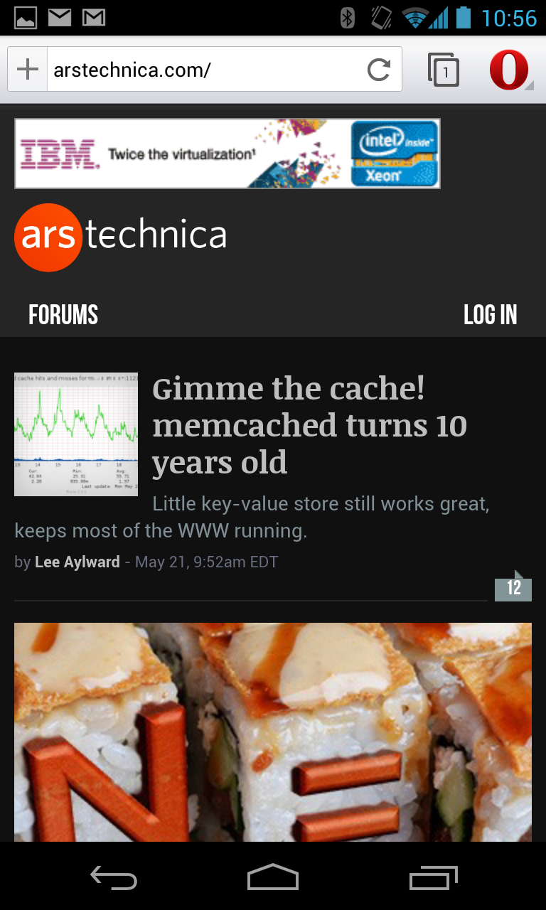 The same page, rendered more attractively by the default Chromium-flavored mode.