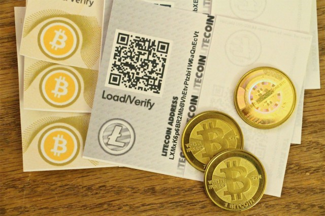 A Litecoin receipt among bitcoins,