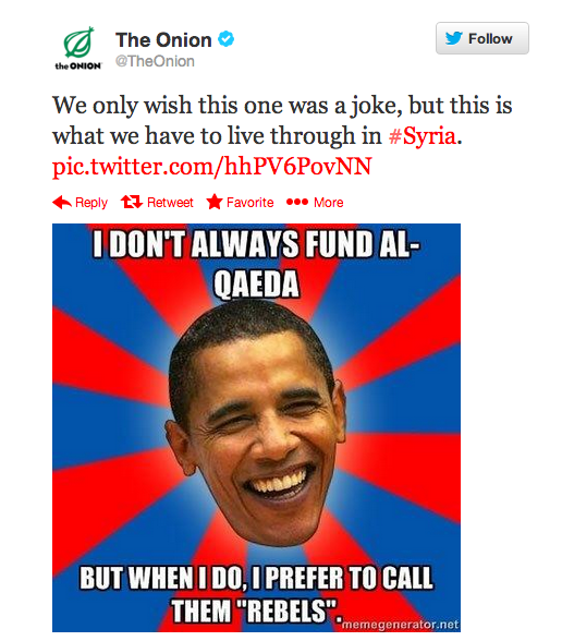 "One of the posts by the Syrian Electronic Army, attempting to leverage memes for ""humor."""