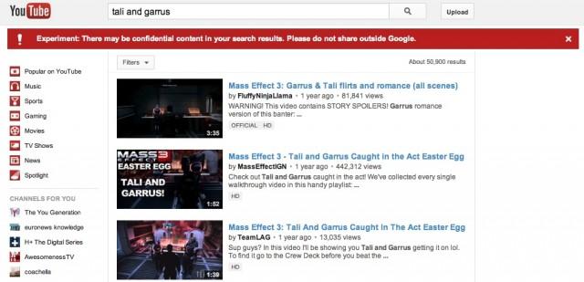 These videos aren't actually confidential.