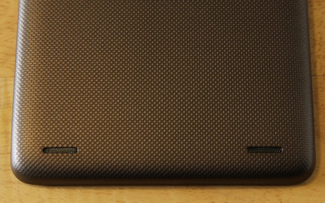 Finally, twin rear-facing stereo speakers up the volume and quality very slightly from the Nexus 7's speaker.