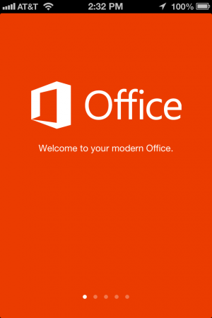 Yes, that's Office launching on an iPhone. Sorry, it doesn't come in iPad size.