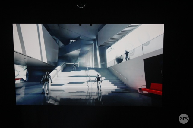 <em>Mirror's Edge </em>showed off some of its hand-to-hand combat.