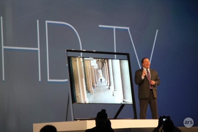 Samsung's $40,000 easel OLED TV.