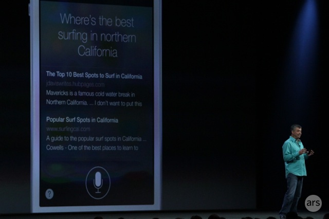 Siri's answers can now include search results from Bing.