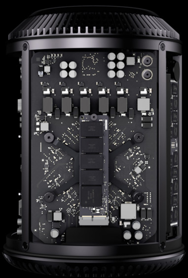 The Mac Pro has been completely redesigned into a cylinder.