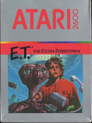 The <em>E.T.</em> box for the Atari 2600.