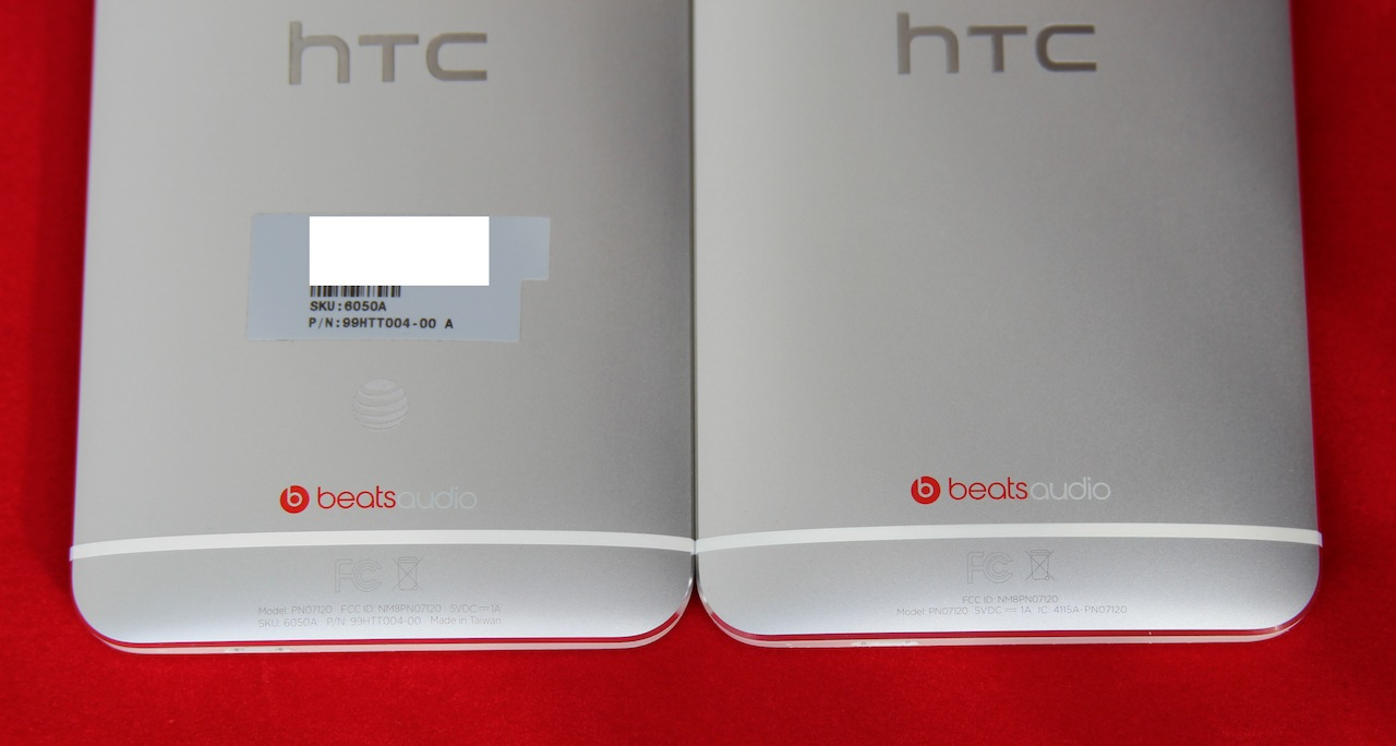 The AT&T logo on the back is the only thing that differentiates the standard One from the Google Play edition.