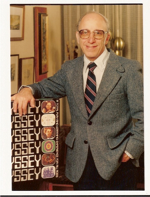 Baer poses with the Odyssey in 1972.
