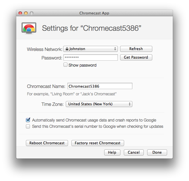 Setup involves giving the Chromecast your Wi-Fi password so it can pull in content on its own steam.