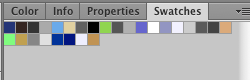 Swatches sourced from a .css file.