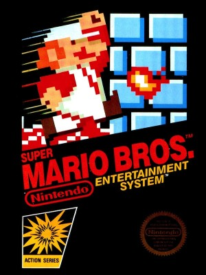The <em>Super Mario Bros.</em> box for the NES.