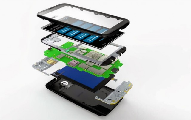 A leaked photographic representation of the Moto X's many layers.