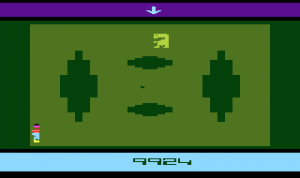 <em>E.T.</em> running on the Atari 2600.