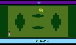 <em>E.T.</em> running on the Atari 2600.