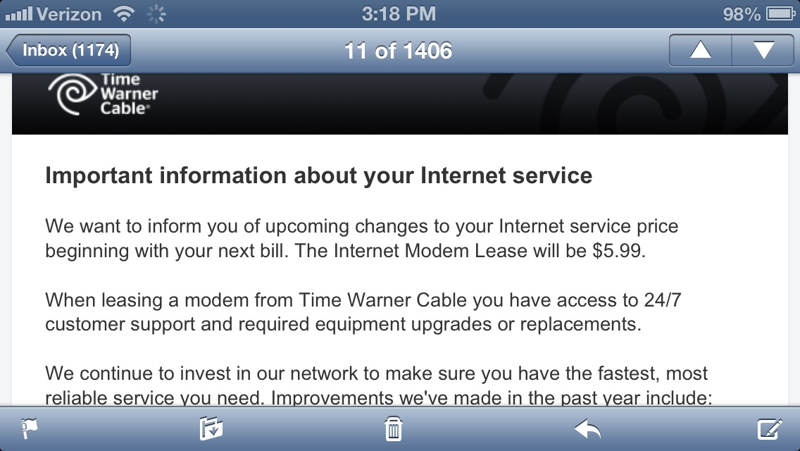 Time warner email time warner gobbles up more cash from customers by