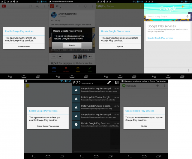 What happens when you try living without Google Play Services.