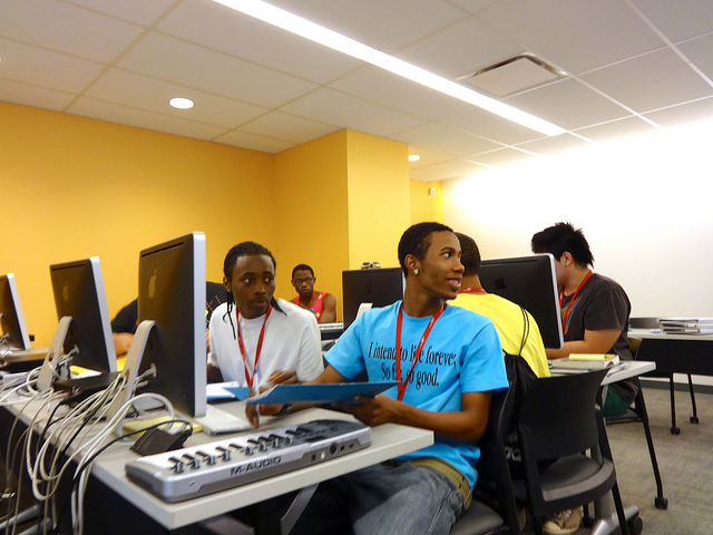 Free Spirit Media DocuMakers at Tribeca Flashpoint Academy for Smart Chicago Collaborative's #civicsummer