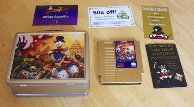 Unfortunately, there wasn't an NES-style cardboard game box included with this awesome package.