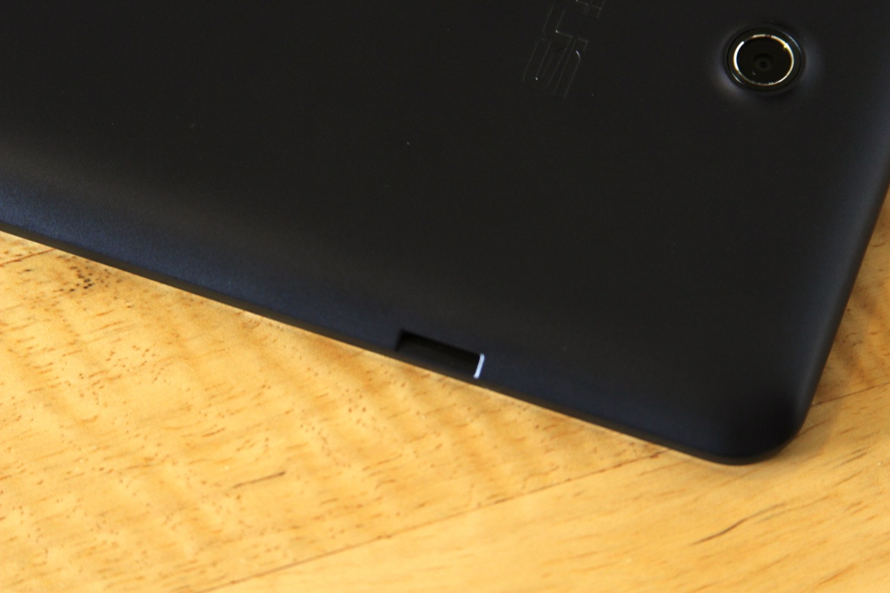 A micro SD card slot, one amenity that the 2012 Nexus 7 doesn't have.