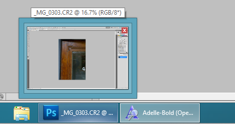 Aero peek shows window contents as you mouse over the application names in the Taskbar.