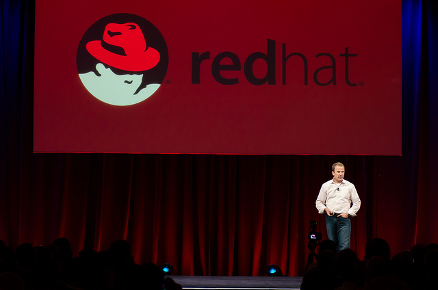 Brian Stevens at the OpenStack Summit in Portland, Oregon in April.
