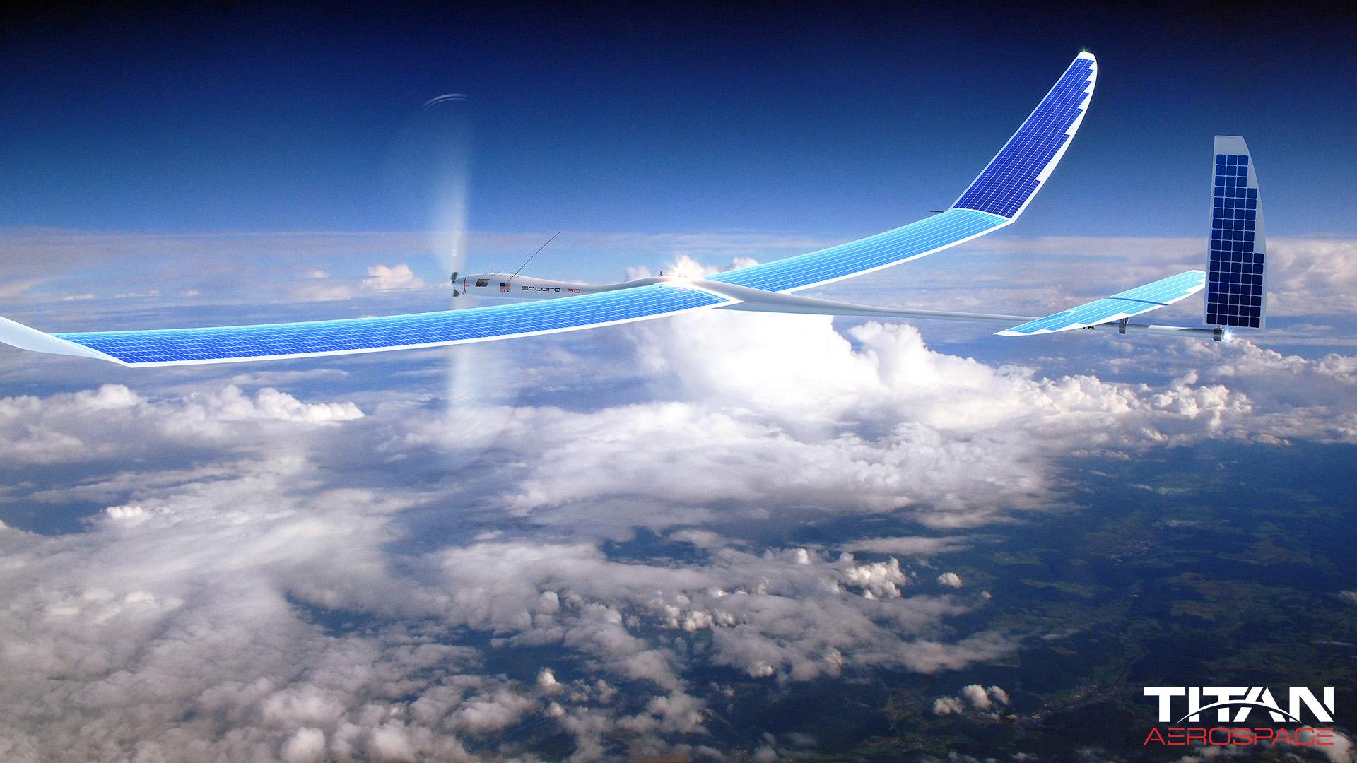 Artist's rendering of Solara 50 at high altitude.