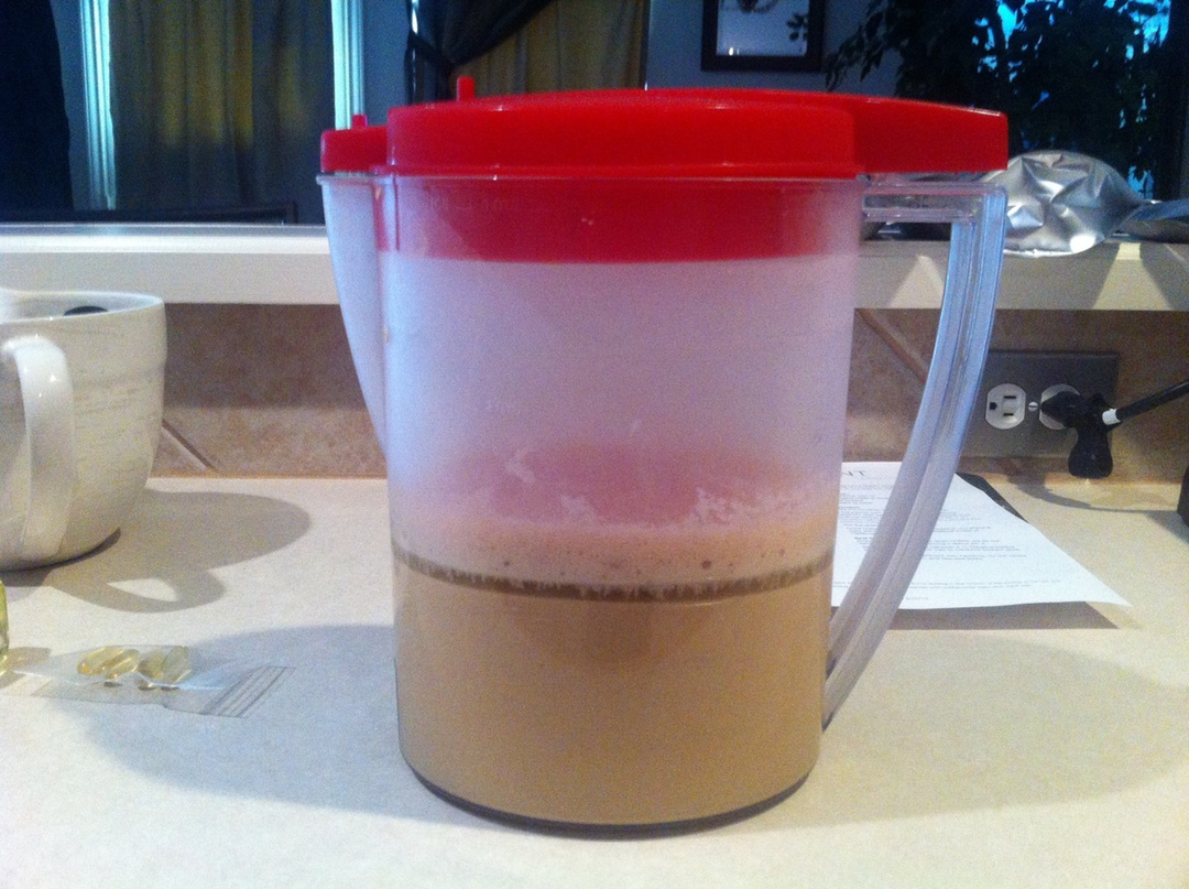 Soylent, stratified. (Apologies for the smartphone camera picture.)
