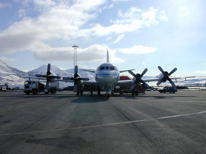 NASA aeroplane in the Arctic, 2002.