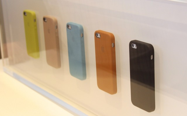 The leather cases for the iPhone 5S will also fit the iPhone 5. This should also hopefully mean that third-party cases for the iPhone 5 will continue to fit the 5S.