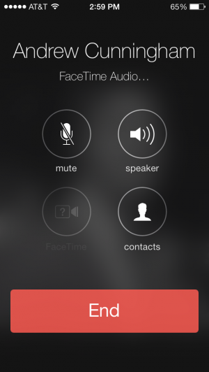 "FaceTime Audio: phone calls without the ""phone"" part."