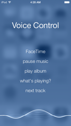 Voice Control: still there, still basic.