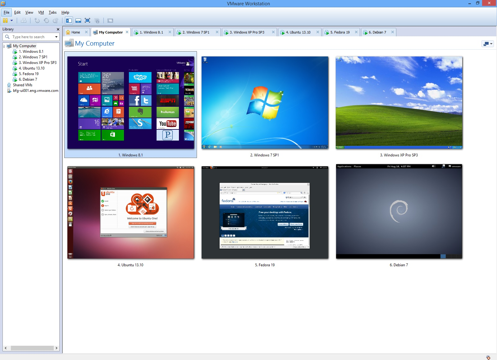 VMware Workstation screenshot