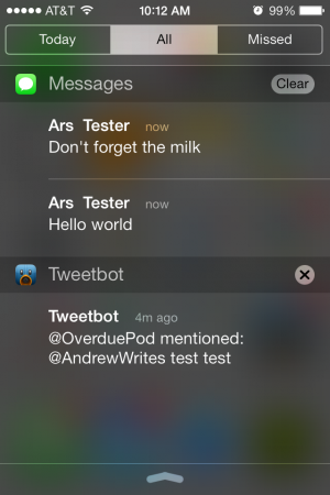 Aside from the Today View, viewing and dismissing notifications is the same as it was before.