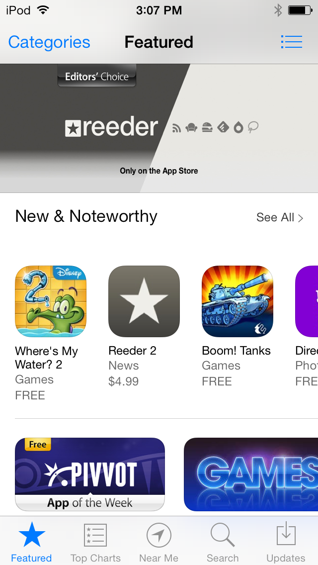 The new App Store looks a lot like the old one. The iPad version has changed even less.