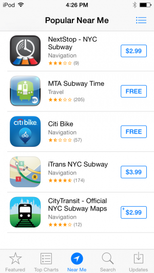 "The new ""Near Me"" feature will show you popular apps from your geographical location."